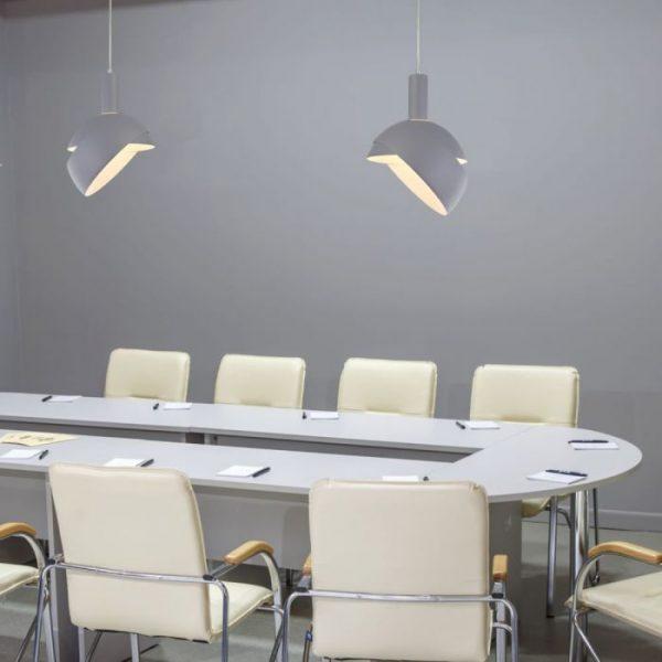 E14 Plastic Pendant Lamp Holder With Slide Aluminium Shade