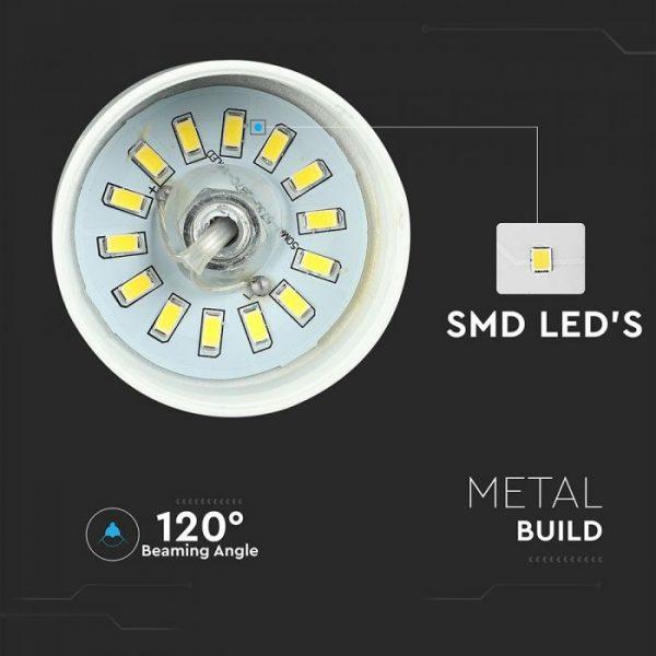 7W Led Pendant Light (Acrylic) - Gold Lamp Shade 250*190mm 4000K