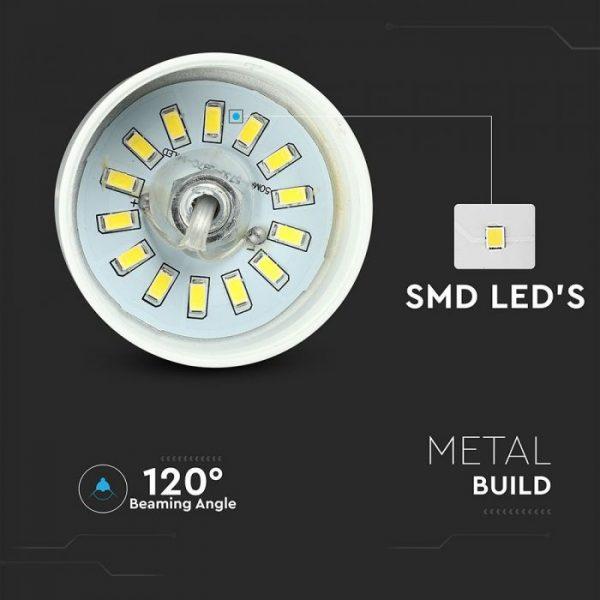 7W Led Pendant Light (Acrylic) - White Lamp Shade 250*190mm 4000K