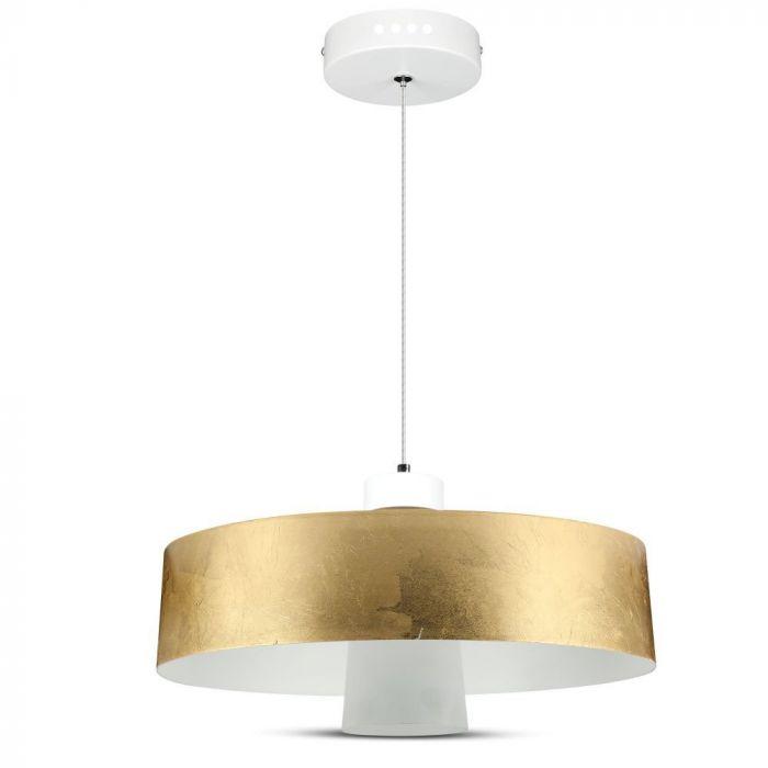 7W Led Pendant Light (Acrylic) - Gold Lamp Shade D=340*190mm 4000K
