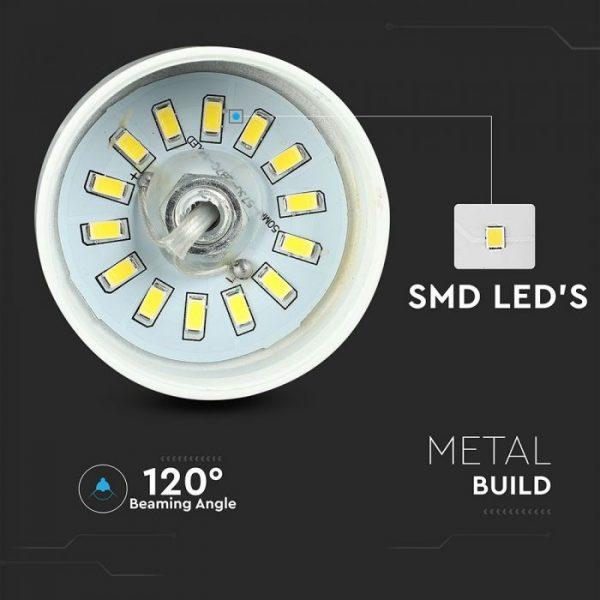 7W Led Pendant Light (Acrylic) - White Lamp Shade D=340*190mm 4000K