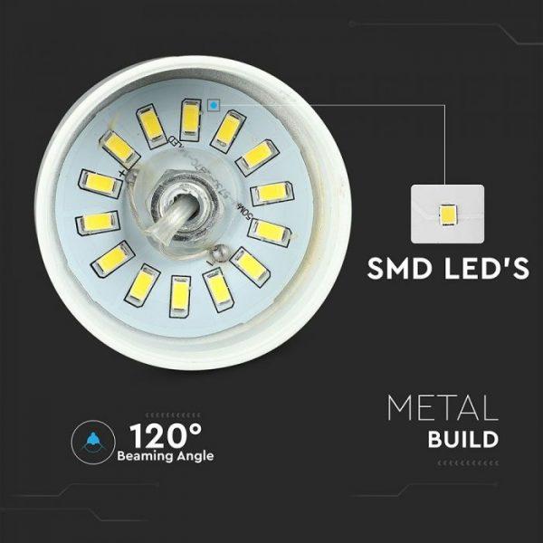 7W Led Pendant Light (Acrylic) - Gold Lamp Shade  D=120*190mm 3000K