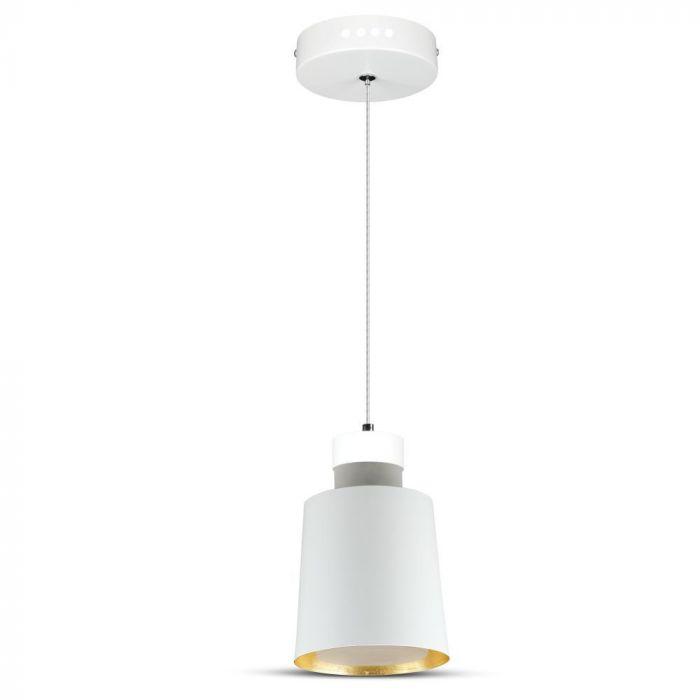 7W Led Pendant Light (Acrylic) - White Lamp Shade  D=120*190mm 3000K