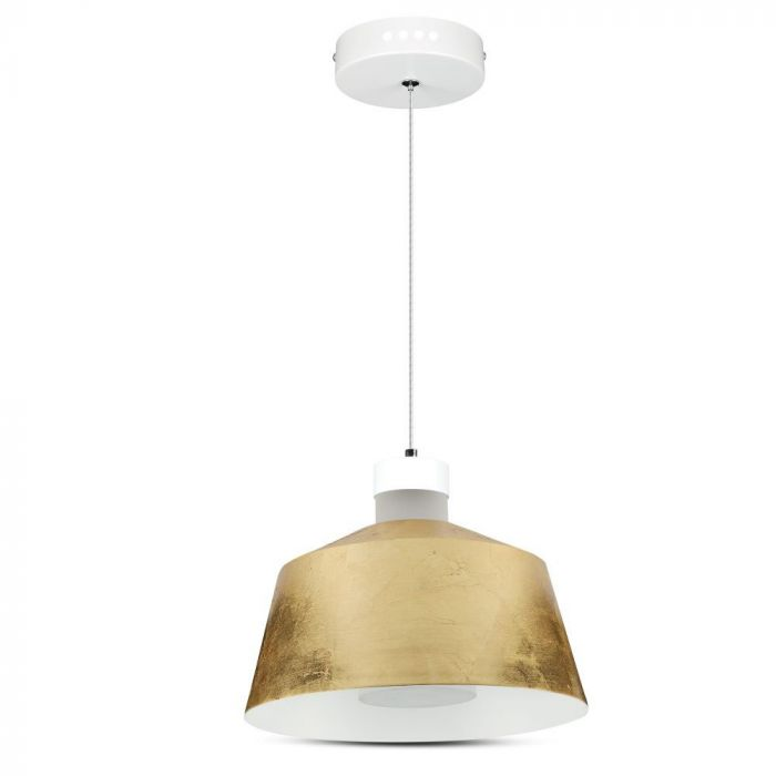 7W Led Pendant - Gold Lamp Shade D=250*190mm