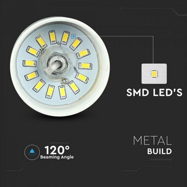 7W Led Pendant Light (Acrylic) - White Lamp Shade D=250*190mm 3000K