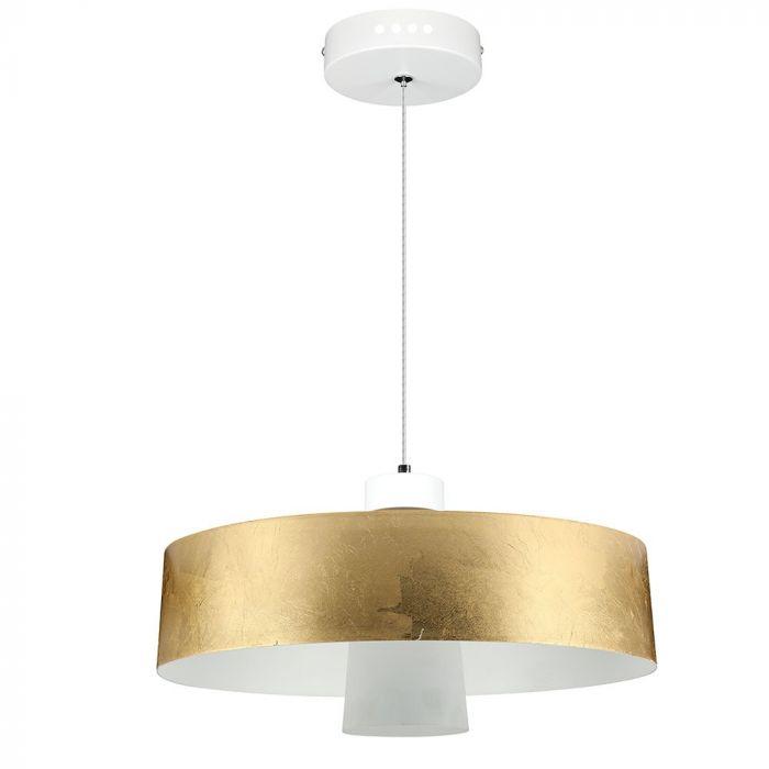 7W Led Pendant Light (Acrylic) - Gold Lamp Shade D=340*190mm 3000K