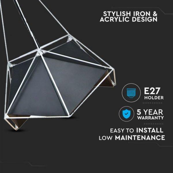 Pendant Light Basics Net Prism Lampshade 400*540mm Black