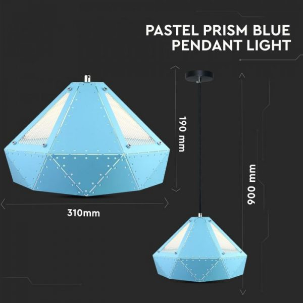 Pendant Light Pastel Prism Blue D=310*180mm