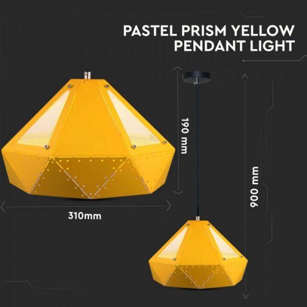 Pendant Light Pastel Prism Yellow D=310*180mm