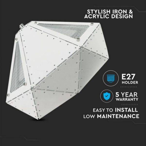 Pendant Light Pastel Prism White D=310*180mm