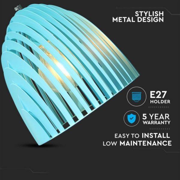 Pendant Light Cone Prism Blue D=250*270mm