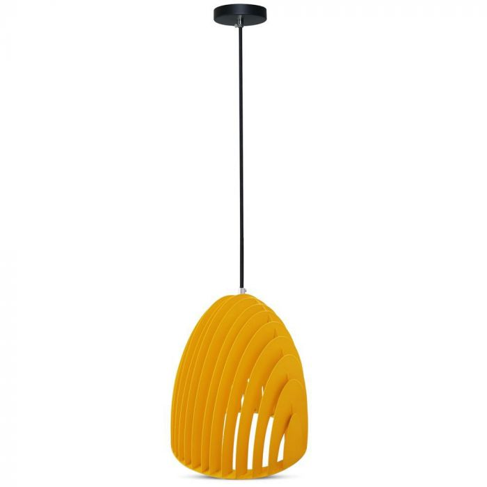 Pendant Light Cone Prism Yellow D=250*270mm