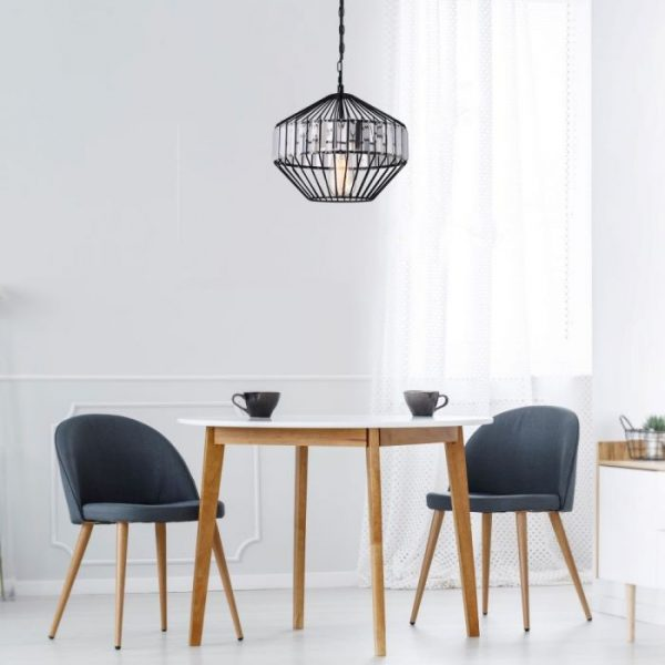 Pendant Light Metal W/Crystel Middle D=330*300mm