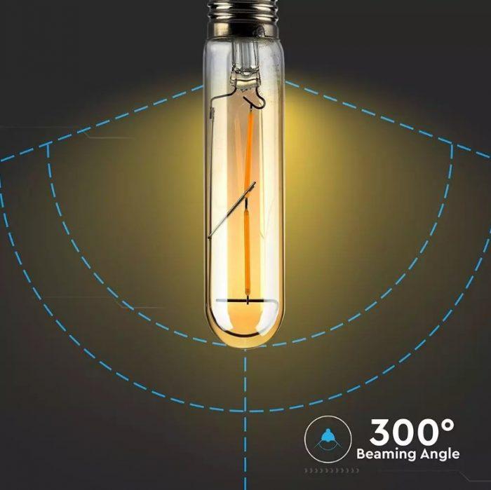 LED Bulb 2W T-30 Amber Cover 2700K
