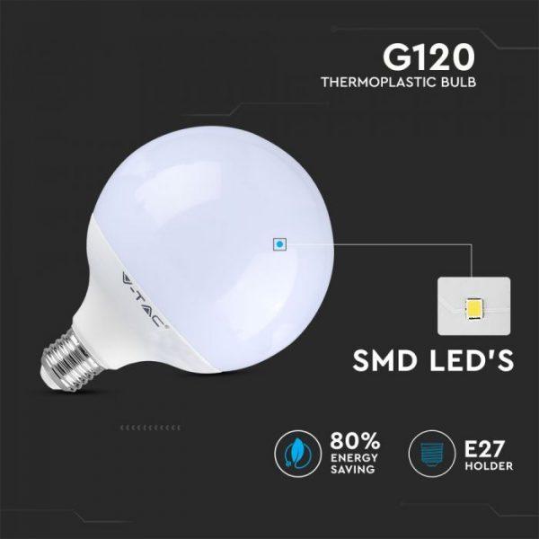 LED Bulb 13W G120 - E27 Globe Dimmable