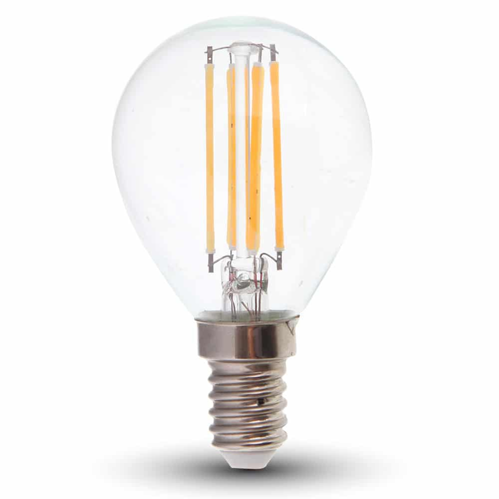 LED Bulb 4W Dimmable P45 - E14 Clear Glass 2700K (warm white)