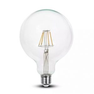 4W Led Bulb Dimmable G125 E27 Clear Glass 2700K