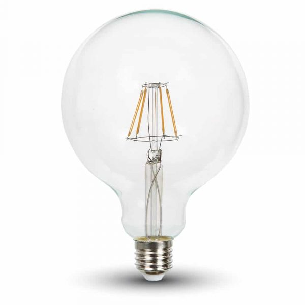 LED Bulb 4W Dimmable G125 - E27 Clear Glass 2700K (warm white)