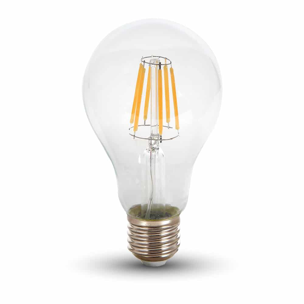 LED Bulb 8W A67 - E27 Clear Glass 6000K (cold white)