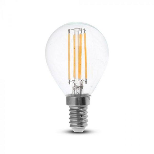 LED Bulb 4W P45 - E14 Clear Glass 6000K (white)