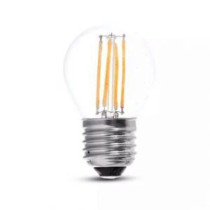 LED Bulb 4W G45 - E27 Clear Glass 6000K