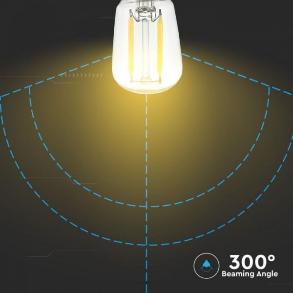 LED Bulb 2W ST26 - E14 Clear Glass 4500K (day white)