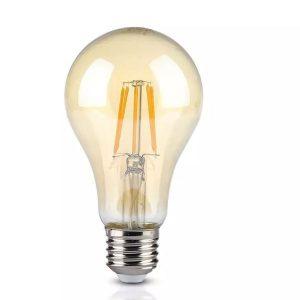 8W LED Bulb A67 Amber Cover 2200K E27