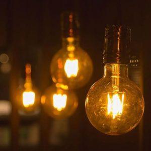 4W G125 LED Bulb Amber Long Filament 2200K