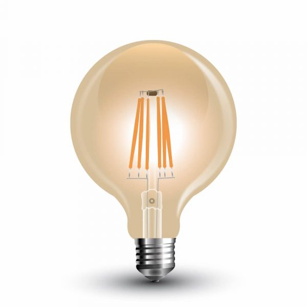 LED Bulb 4W LongFilament G-125 Amber Cover 2200K (warm white)