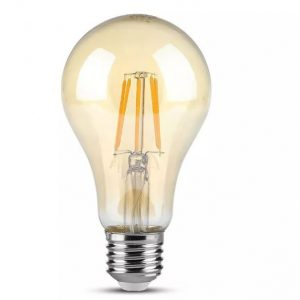 4W LED Bulb A60 Amber Cover 2200K E27