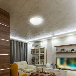 LED Bulkhead Light With Microwave Sensor E27 IP44