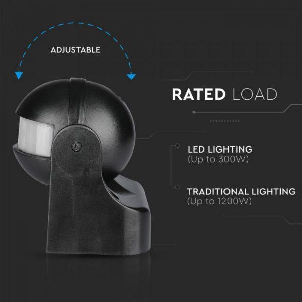 Infrared  Motion Sensor Wall Black 180 degree