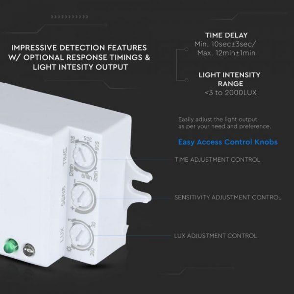 Microwave Motion Sensor IP20