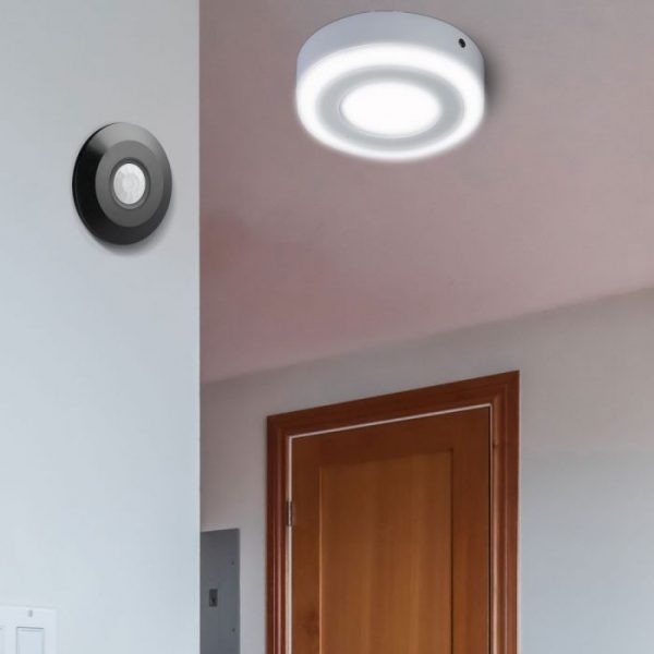 PIR Ceiling Sensor Flat Surface Black 360 degree