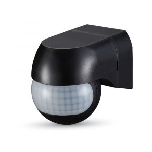 PIR Wall Sensor With Moving Head Black