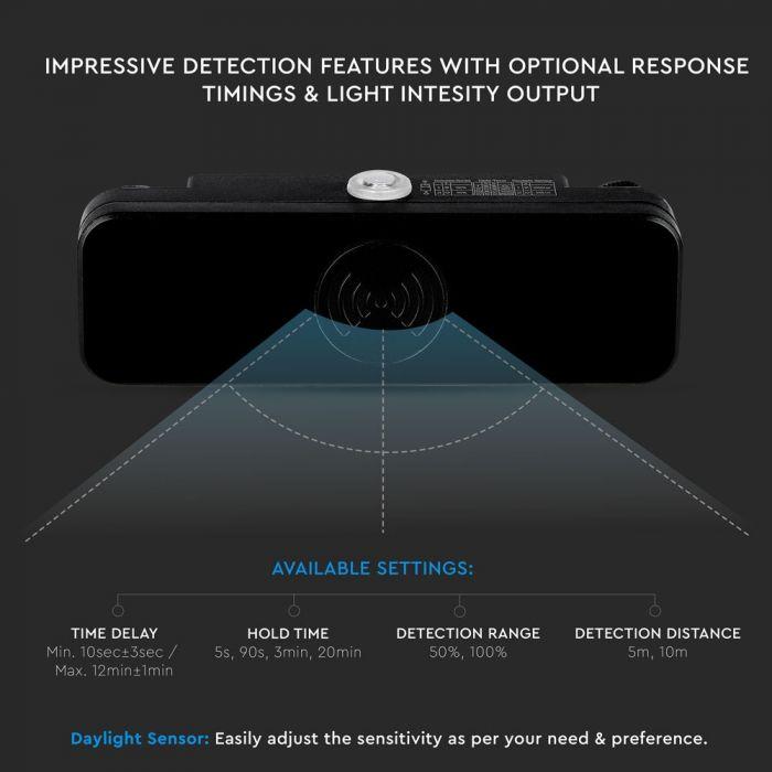 Microwave Motion Sensor IP65 Black