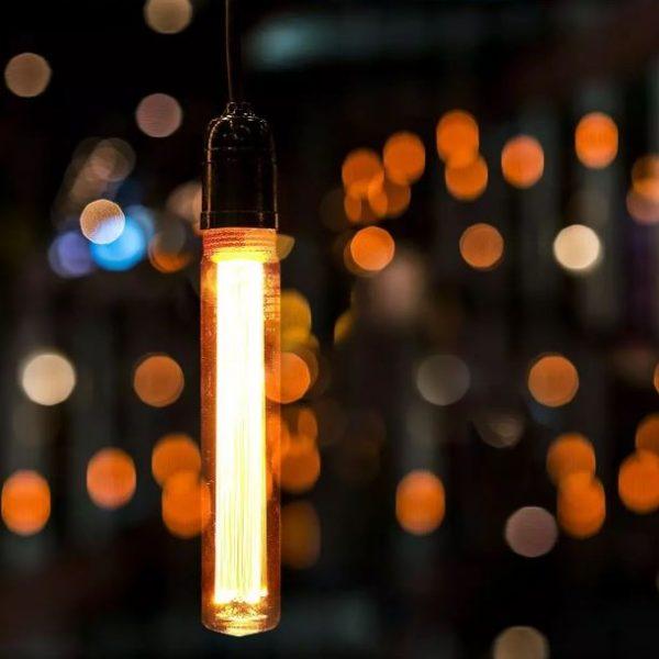 2W T30 Led Art Filament Bulb Amber 1800K E27