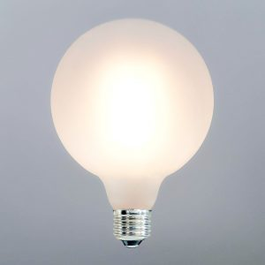 7W LED Bulb G125 E27 Filament Frosted Glass 3000K (warm white)