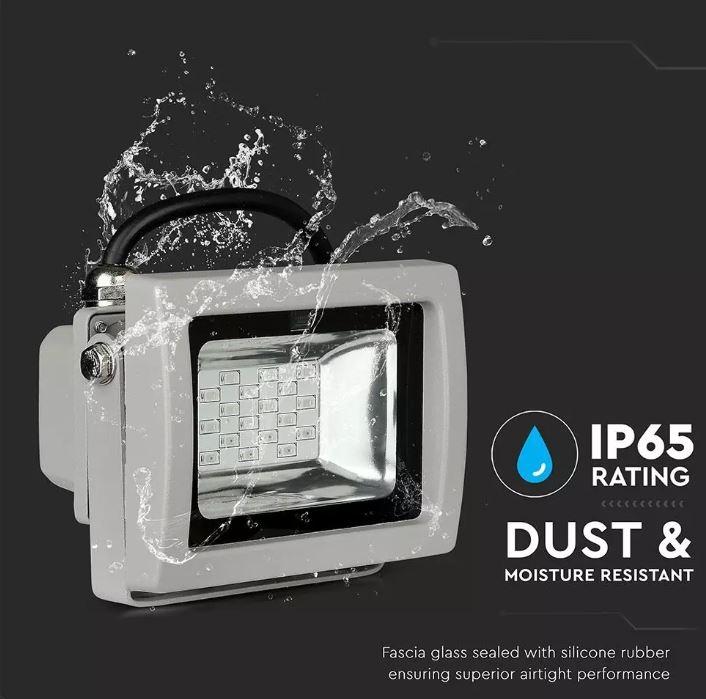 10W RGB Floodlight Grey - Infrared Remote Control VT-4711 IF SKU:5895