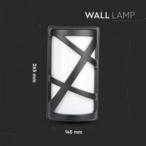 Wall Lamp 145 x 295 mm Matt Black