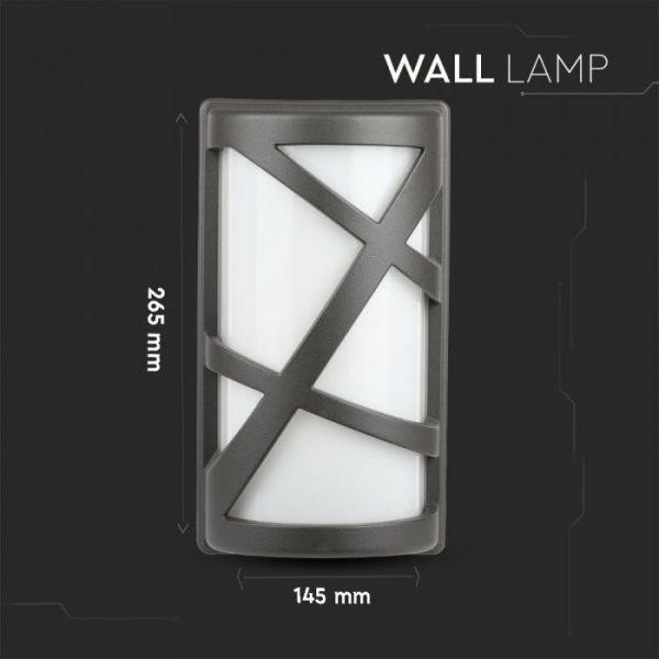 Wall Lamp 145 x 295 mm Dark Grey