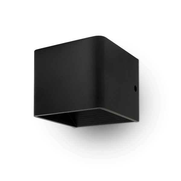 5W Wall Lamp With Bridglux Chip Black Body Square 3000K