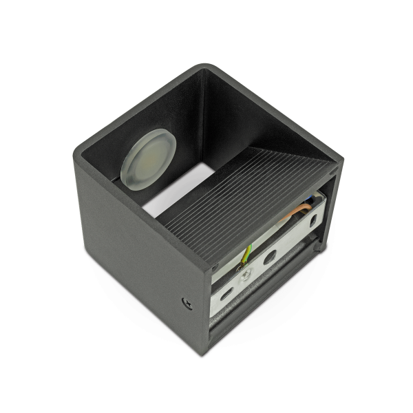 5W Wall Lamp With Bridglux Chip Black Body Square 4000K
