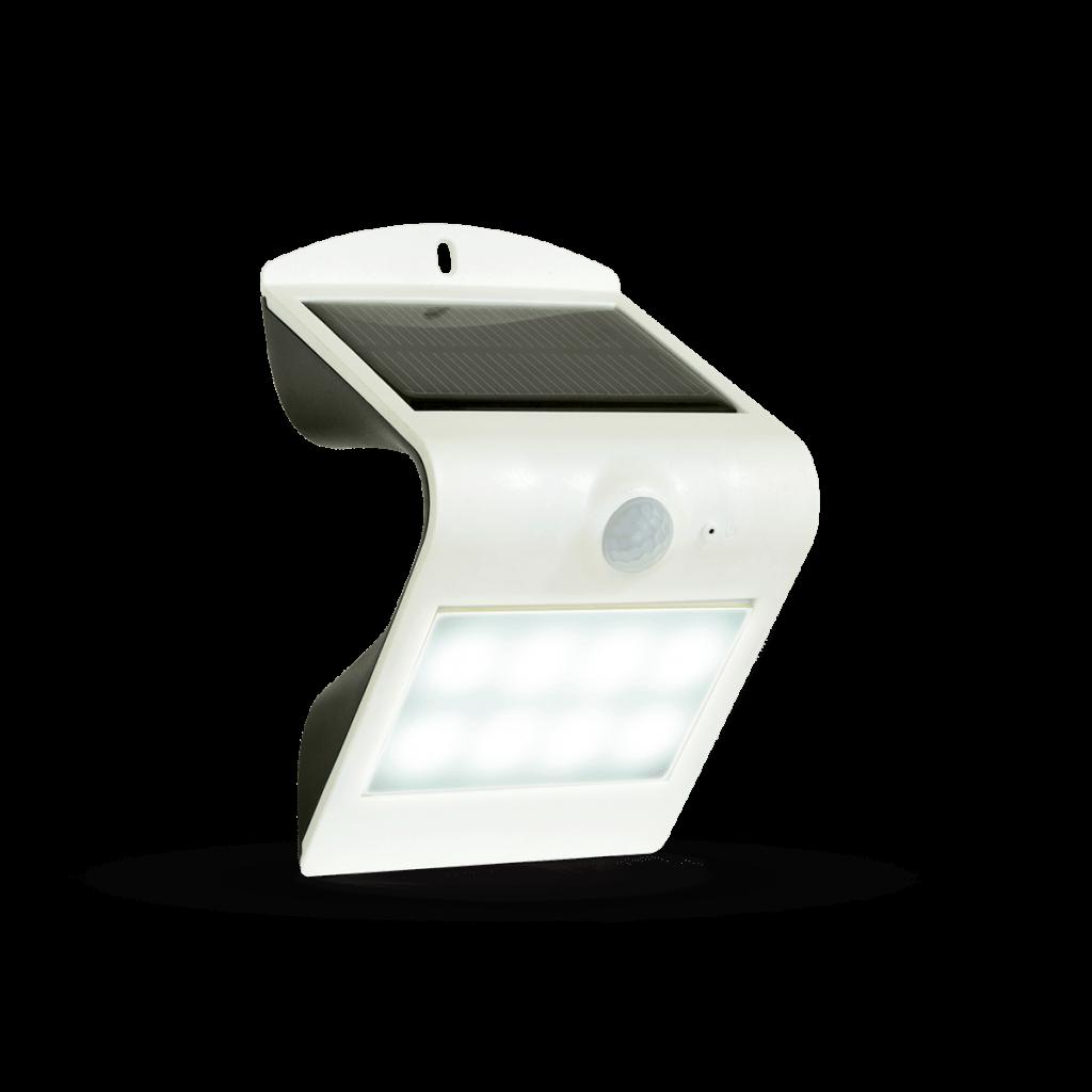 1.5W LED Solar Wall Light 4000K White Black Body