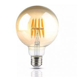 8W G95 LED Filament Bulb Amber Cover 2200K (warm white)