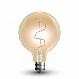 LED Bulb 4W S-Shape Filament-G95 Amber Cover 2200K (warm white)