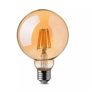 8W LED Bulb G125 E27 Amber Cover 2200K (warm white)