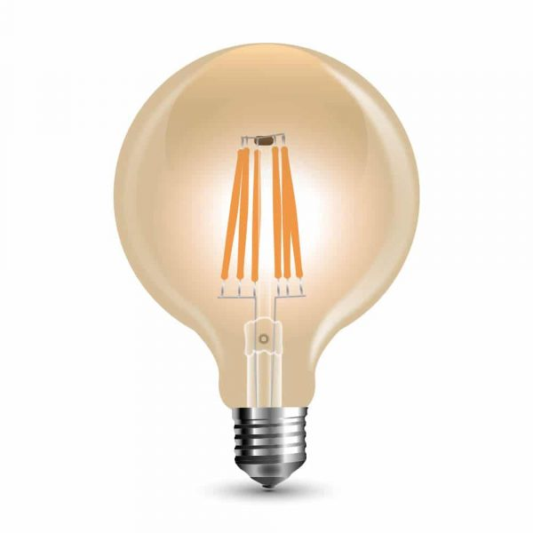 LED Bulb 6W G95 - E27 Amber Cover 2200K (warm white)
