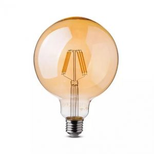 6W LED Bulb G95 Amber Cover E27 2200K (warm white)