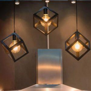 5W G95 LED Bulb Curve Filament Amber Cover 2200K